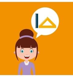 Tools geometry education online design girl vector