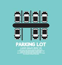 Top view of parking lot vector