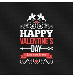 Valentines Day Border Vintage Design Background vector image