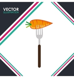vegetarian food design vector image vector image