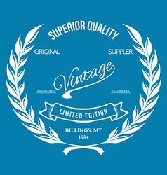 Vintage retro print t-shirt typography vector