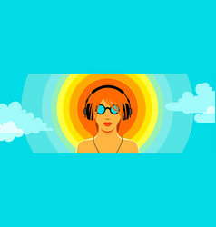 vinyl sun vector image vector image