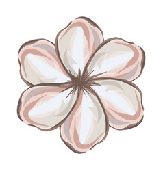 White background with watercolor malva flower vector