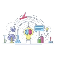 Ideas laboratory abstract vector image