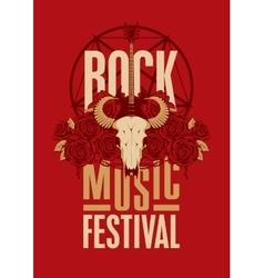 poster for festival rock music vector image