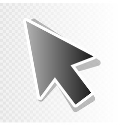arrow sign   new year blackish vector image