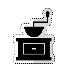 Coffee grinder isolated icon vector