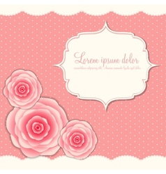 Valentines day card with rose flowers vector