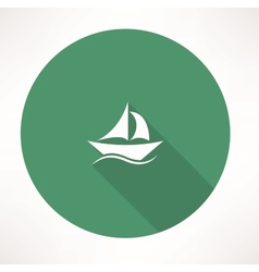 Sailboat icon vector