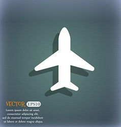Airplane plane travel flight icon symbol on the vector