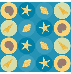 Seamless background with shells vector