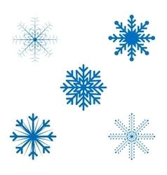 Openwork christmas snowflakes in format vector
