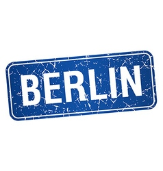 Berlin blue stamp isolated on white background vector