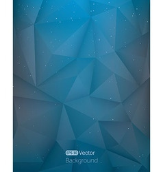 Abstract light blue triangle in space vector image