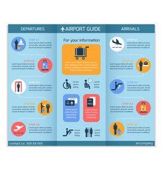 Airport business infographic brochure vector