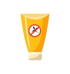 Anti mosquito cream in plastic tube simplified vector