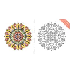 antistress coloring page mandala sixth vector image