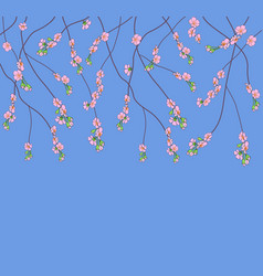 background with flowering branches vector image