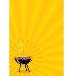 bbq poster template vector image vector image