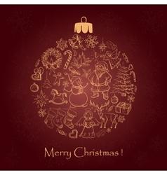 Beautiful christmas ball for Merry Christmas vector image vector image