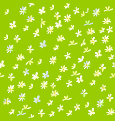 Cartoon field background with flowers vector