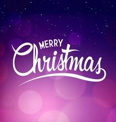 Christmas background with calligraphy vector