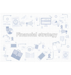 financial strategy business economic development vector image