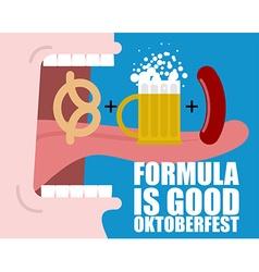 Formula good oktoberfest open mouth long tongue vector