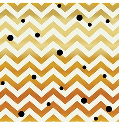 Gold Chevron seamless pattern Zigzag lines and vector image