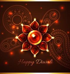 Hindu festival background of diwali vector