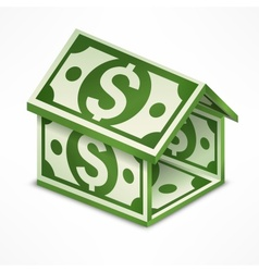 Money house made vector