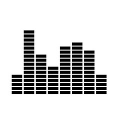 music equalizer vector image
