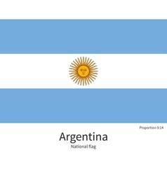 National flag of argentina with correct vector