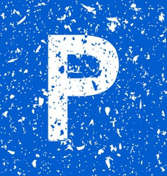 parking grunge vector image vector image