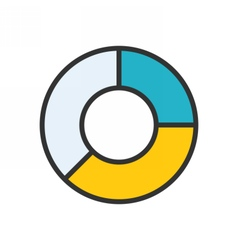 Pie Chart outline icon vector image vector image