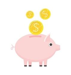 Piggybank icon in flat style design vector