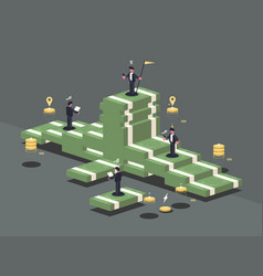 Pile of money vector