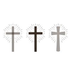 Religion cross icon or symbol vector image vector image