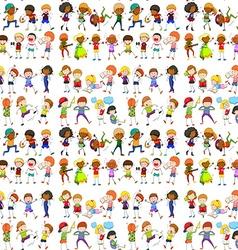 Seamless people doing activities vector image vector image