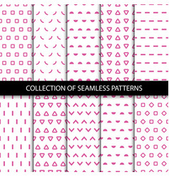 Simple seamless geometric patterns vector