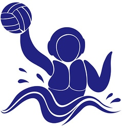 Sport icon design for water polo vector
