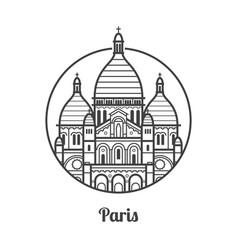 Travel paris icon vector