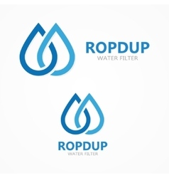Water drop icon or logo vector