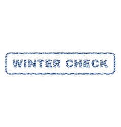 Winter check textile stamp vector