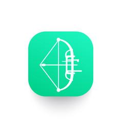 Compound bow archery sport icon pictogram vector