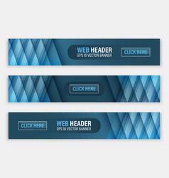 Web header set of horizontal abstract banners vector