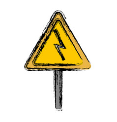 Electrical warning sign icon vector