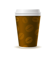 Realistic style paper coffee cup vector