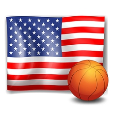 The American flag with a ball vector image