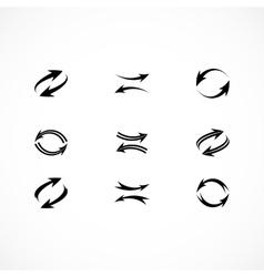 Arrow icons vector image